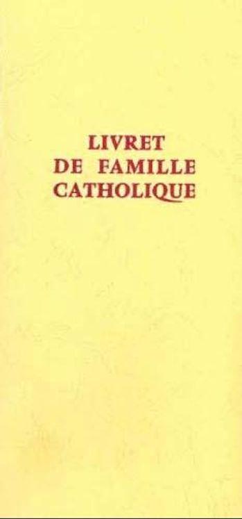 Livret de famille catholique