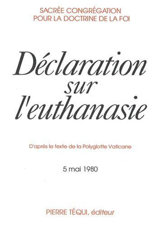 Déclaration sur l´euthanasie 1980