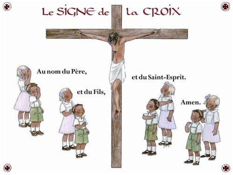 Poster Signe de la Croix