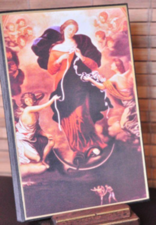 Icône Marie qui défait les noeuds 10 x 15 cm