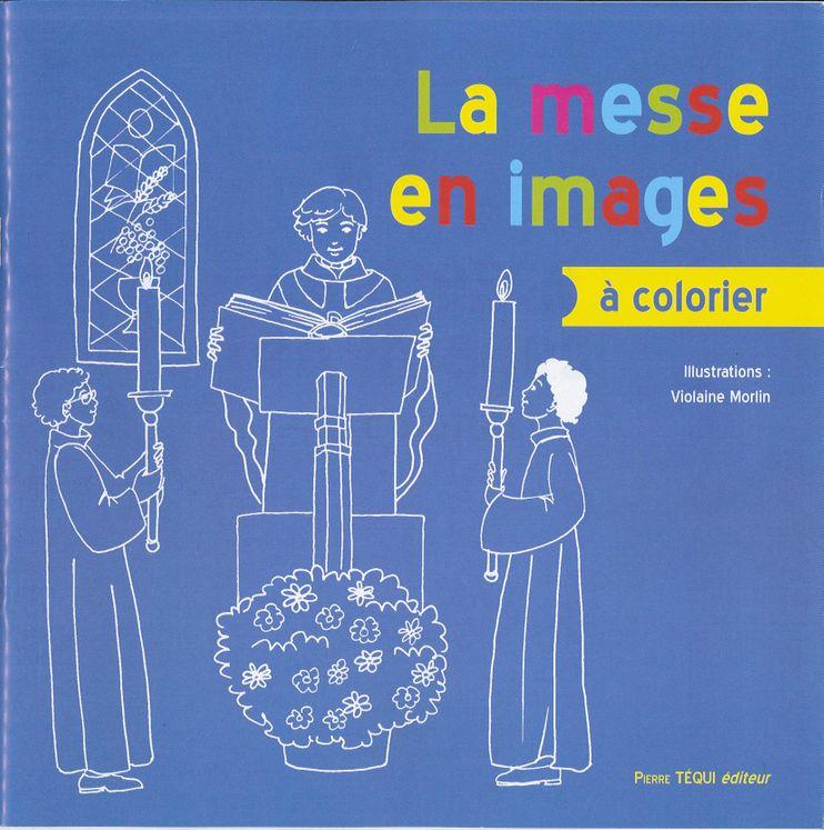 La messe en images à colorier
