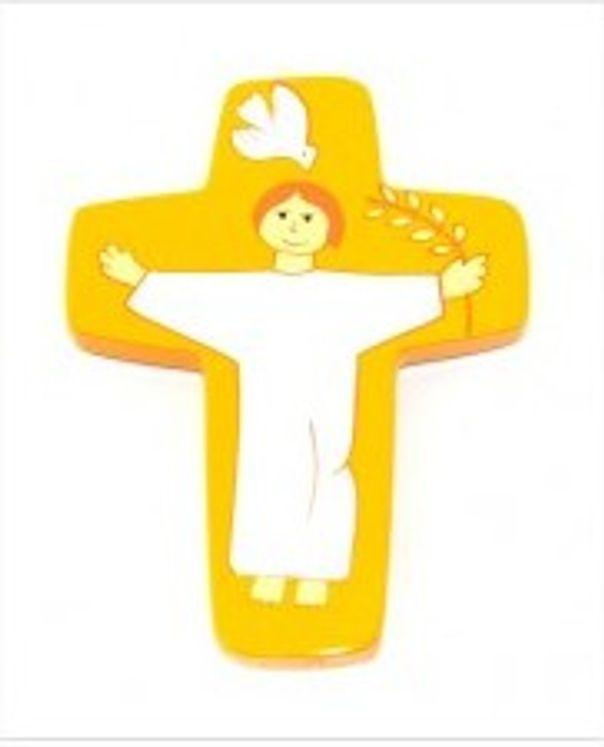 Croix Christ ressuscité Jaune