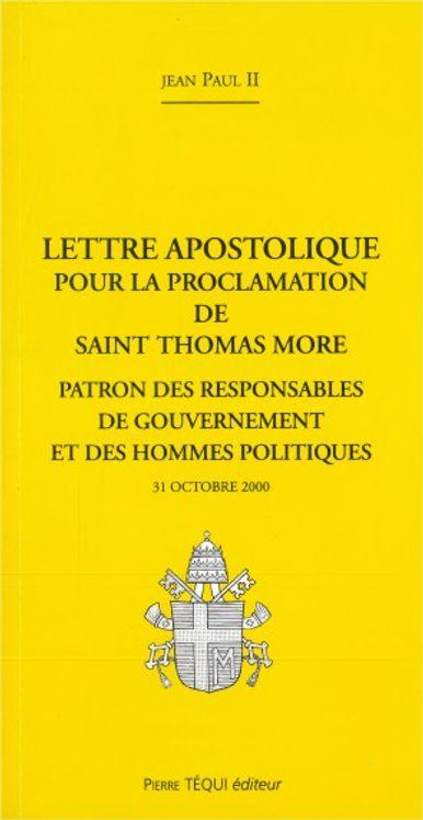 Saint Thomas More, patron des responsables de gouvernement et des hommes politiques