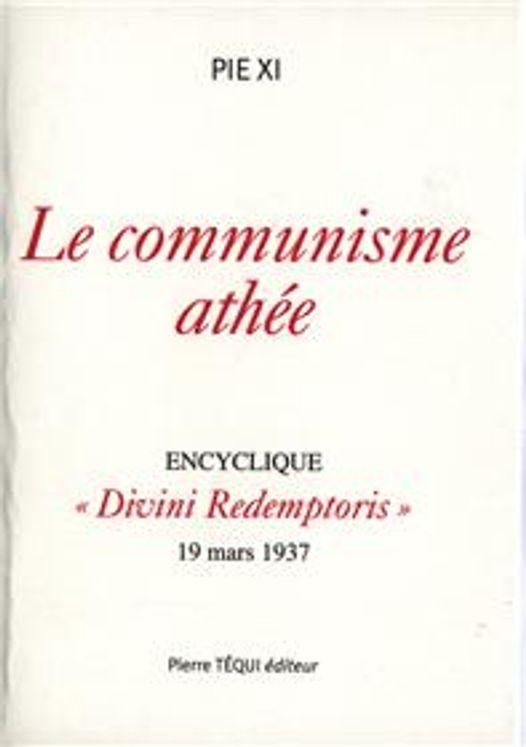 Le communisme athée - Divini redemptoris