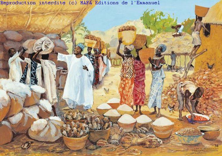 Le Riche fou  (Lc 12,13), Carte simple Vie de Jésus Mafa