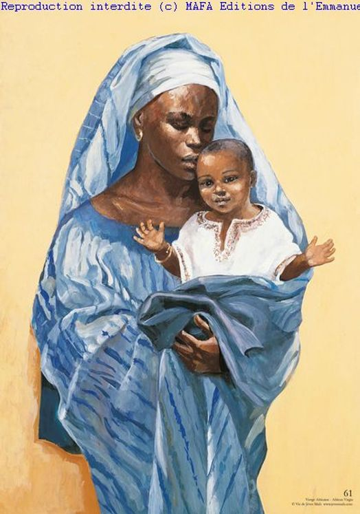Vierge Africaine, Carte simple Vie de Jésus Mafa