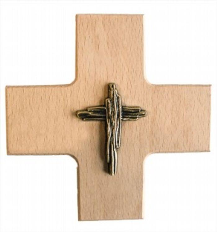 Croix  en bois et métall