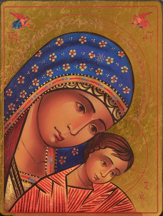 Icône qualité Or Vierge du mont Kykkos 11,8 x 15,5 cm