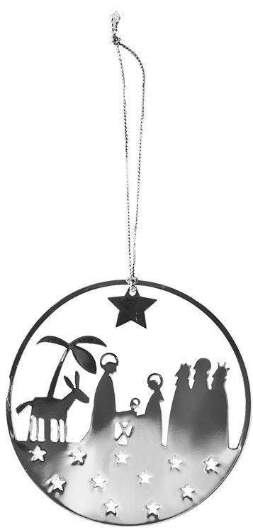"""Décoration Noël métal  à suspendre - """"La Nativité"""""""