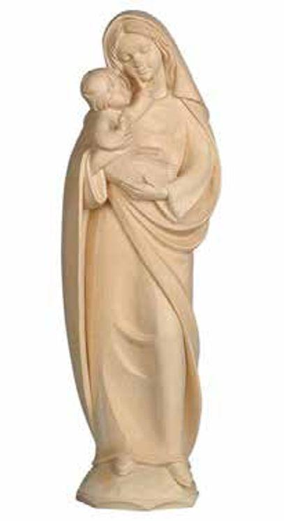 Statue Vierge à l´Enfant en bois sculpté - 16 cm