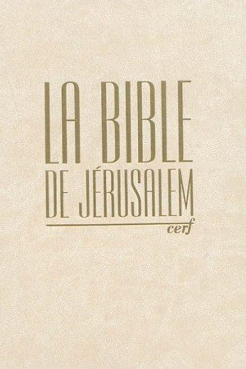 Bible de Jérusalem compacte reliée skyvertex crème, dorée