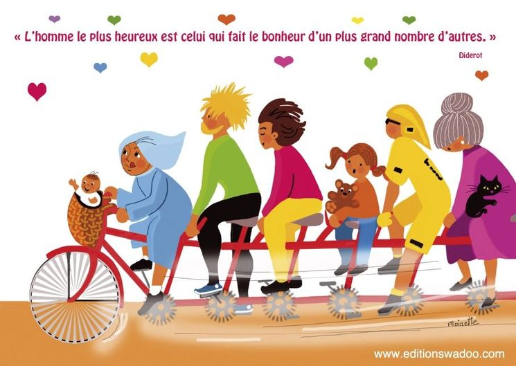 """Carte Moinette  """"L´homme le plus heureux est celui qui fait le bonheur..."""""""