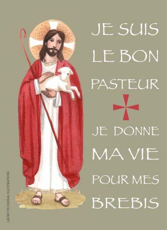 Lot de 25 - Image Jésus Bon pasteur