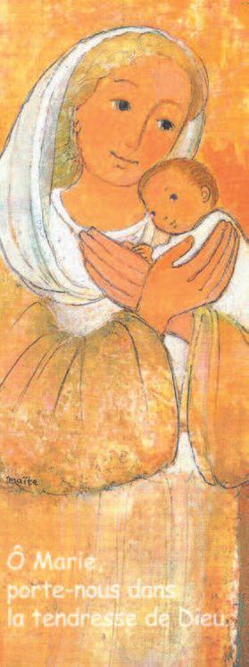 Lot de 25 - Signet Maïte Roche Vierge à l'enfant