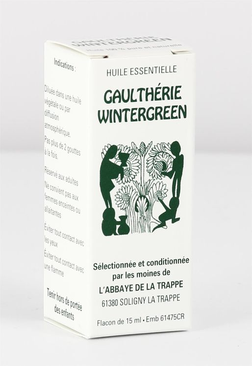 Huile essentielle Gaulthérie (Wintergreen), flacon de 15 ml