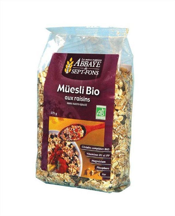 Müesli Bio - Raisins, sachet de 375 g