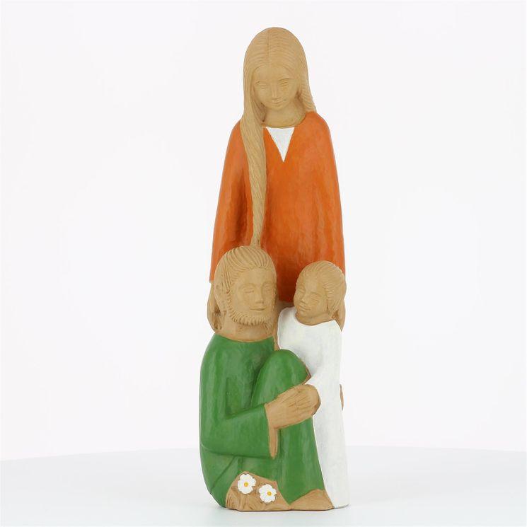 Statue Sainte Famille  Yves le Pape en pierre reconstituée 25 cm