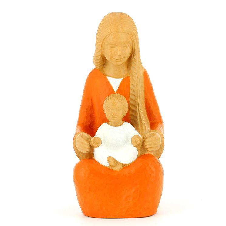 Statue Yves Le Pape Marie de la sagesse orange