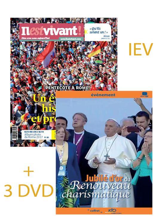 Pack Coffret 3 DVD Jubilé d´or du Renouveau charismatique + Il est vivant n° 336 Pentecôte à Rome
