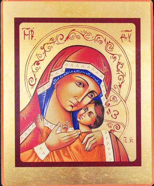 Icône qualité Or Vierge de Korsun 12 x 15 cm