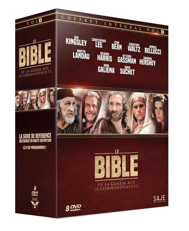 Coffret Intégral Volume 1 La Bible : De la Genèse aux 10 commandements (coffret 8 DVD)