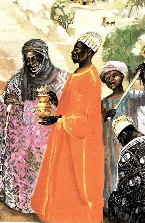 Les Trois Rois, Carte simple Vie de Jésus Mafa