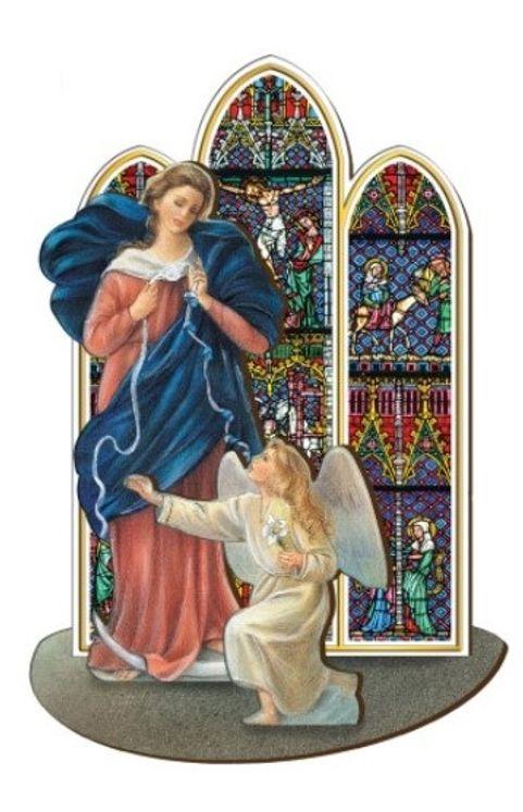 Marie qui défait les noeuds - Saint en bois à assembler (taille 12 cm)