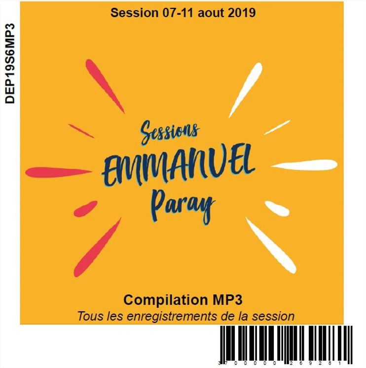 Session 07-11 aout 2019, CD MP3