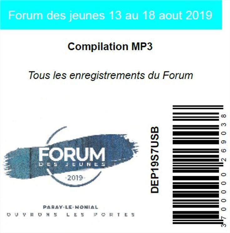 Forum des jeunes 13 au 18 aout 2019, USB MP3