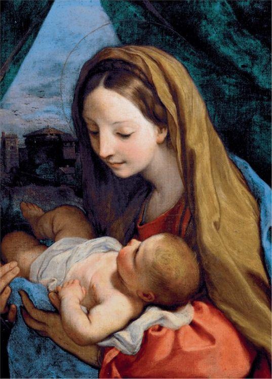 Cartes de voeux - Vierge à l'enfant (Maratta) - pack de 10