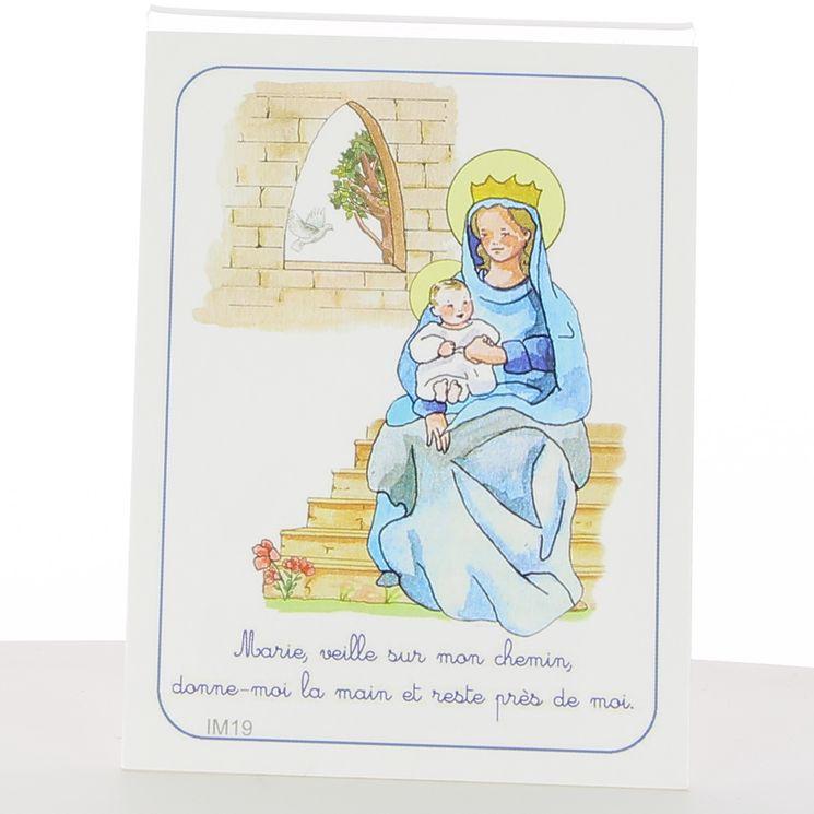 Image fête de la foi - Vierge à l´enfant. 7 x 12 cm