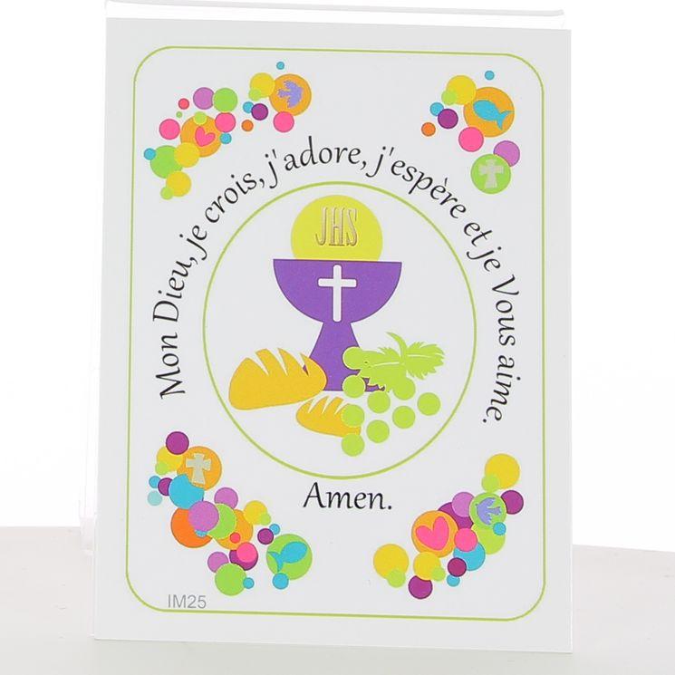 Image fête de la foi - Calice communion. 7 x 12 cm